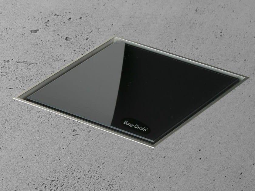 Shower drain AQUA JEWELS QUATTRO BLACK GLASS - Easy Sanitary Solutions
