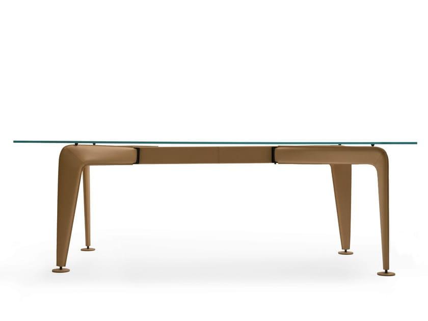Rectangular glass table ASYMMETRICAL | Glass table - Colé Italian Design Label