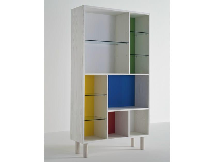 Open ash bookcase OTTOMAN BOOKCASE - Colé Italian Design Label