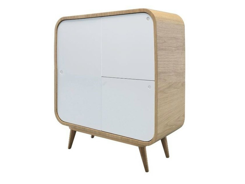 Lacquered highboard with doors MYTIL - AZEA