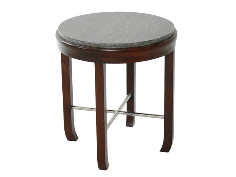 Round wooden coffee table for living room DUO | Coffee table - WARISAN