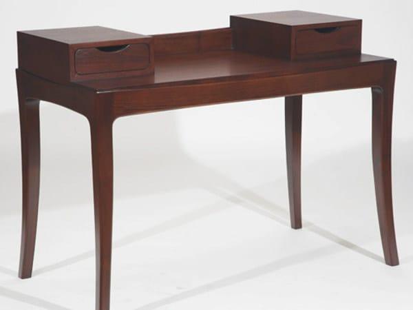 Rectangular wooden writing desk with drawers EMBRACE | Writing desk - WARISAN