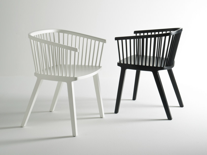 Beech restaurant chair with armrests SECRETO | Chair by Colé Italia