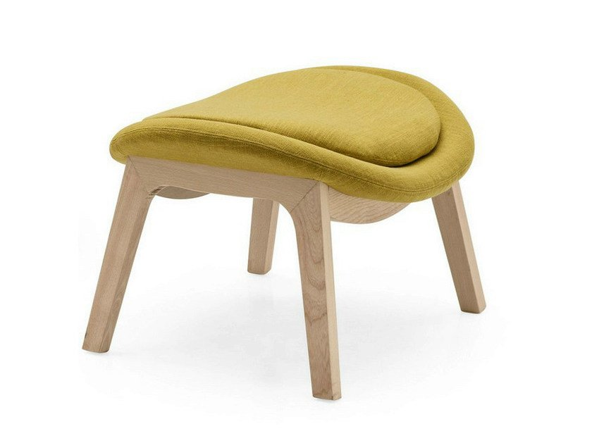 Fabric footstool LAZY | Fabric footstool - Calligaris