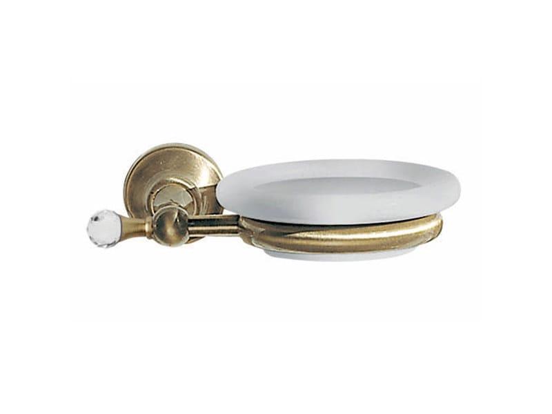Wall-mounted soap dish with Swarovski® Crystals IBISCO CRYSTAL | Soap dish - Giulini G. Rubinetteria