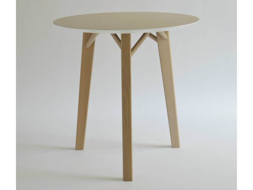 Round wood veneer table TRIA | Round table - Colé Italian Design Label