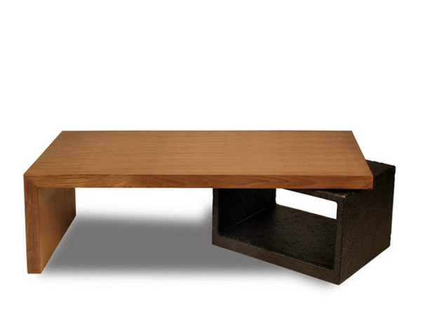 Rectangular wooden coffee table for living room PLANUS | Rectangular coffee table - WARISAN