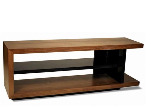 Low wooden TV cabinet PLANUS | TV cabinet - WARISAN