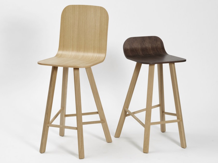 Multi-layer wood counter stool with footrest TRIA | Counter stool - Colé Italian Design Label