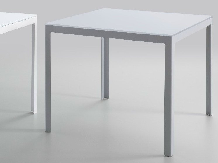 Square crystal and steel table TYPE | Crystal and steel table - iCarraro italian makers