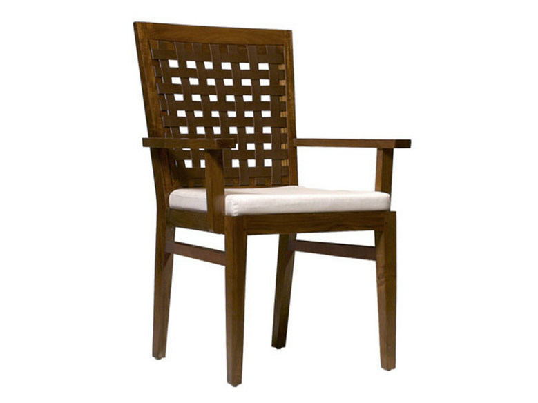 Wooden chair with armrests SANTAI | Wooden chair by WARISAN