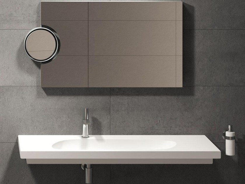Wall-mounted washbasin CUBIKA 140 | Wall-mounted washbasin - Ceramica Cielo