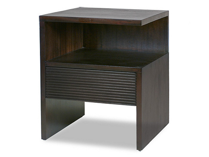 Rectangular bedside table with drawers GROOVE | Wooden bedside table - WARISAN