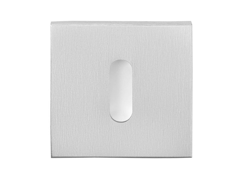 Square stainless steel keyhole escutcheon RIBBON | Square keyhole escutcheon - Formani Holland B.V.