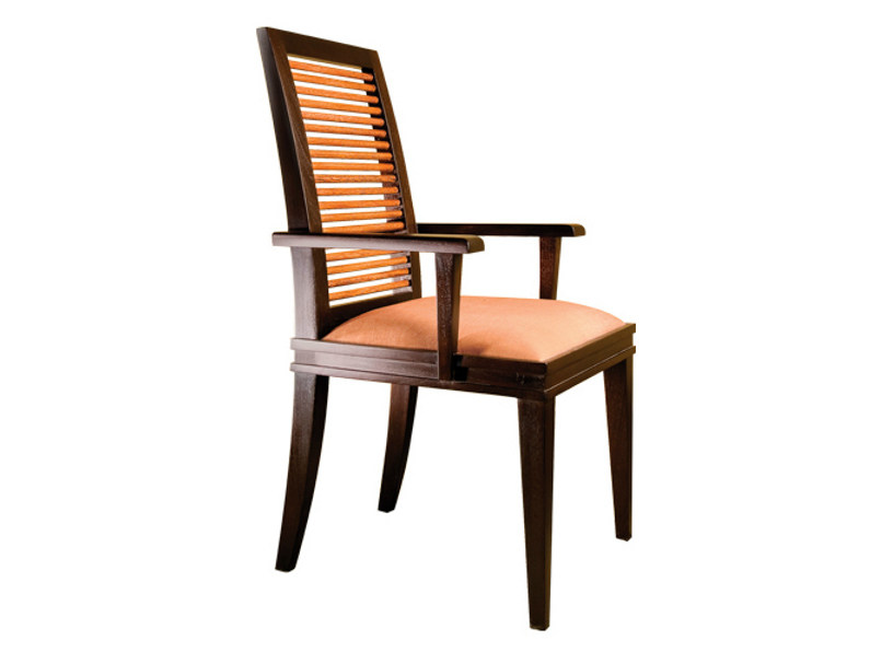 Upholstered chair with armrests COCO | Chair with armrests - WARISAN