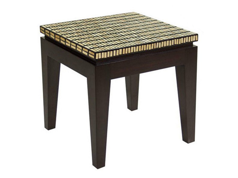 Square wooden coffee table for living room RIKO | Square coffee table - WARISAN