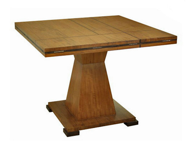 Extending square wooden living room table FUSION | Table - WARISAN