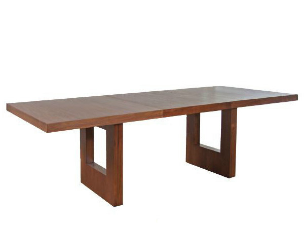 Extending rectangular wooden living room table FUSION | Extending table - WARISAN