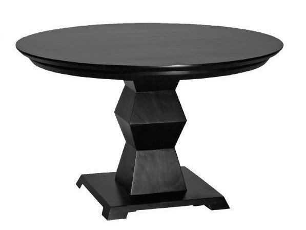 Round wooden living room table BRANCUSI | Round table - WARISAN