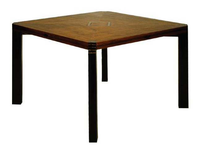 Square wooden living room table CLOVER - WARISAN