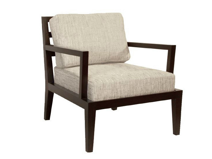 Upholstered easy chair with armrests NEWPORT | Easy chair - WARISAN
