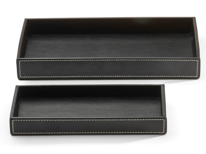 Imitation leather storage box BROWNIE TAB M/L - DECOR WALTHER