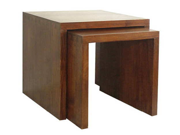 Square wooden coffee table MINIMAL | Square coffee table - WARISAN