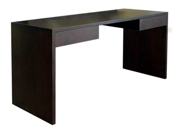 Rectangular wooden writing desk with drawers MINIMAL | Writing desk by WARISAN