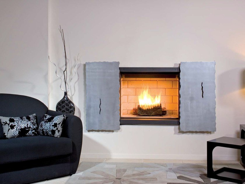 Wall-mounted steel fireplace TECNA - JC Bordelet Industries