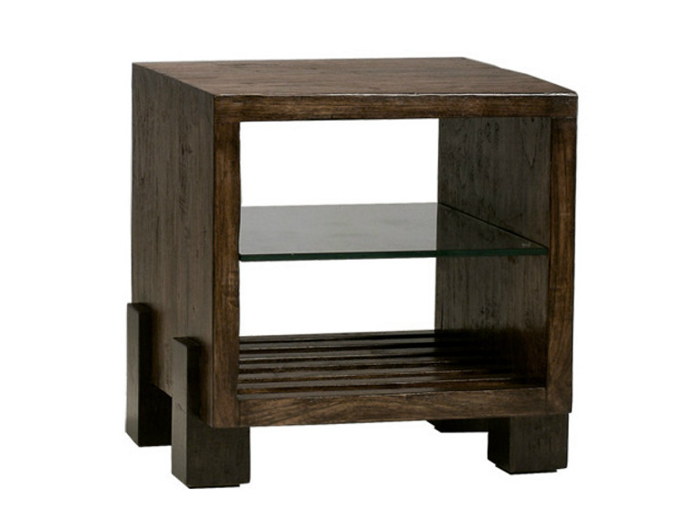 Wooden coffee table with integrated magazine rack MIRAI | Coffee table with integrated magazine rack - WARISAN
