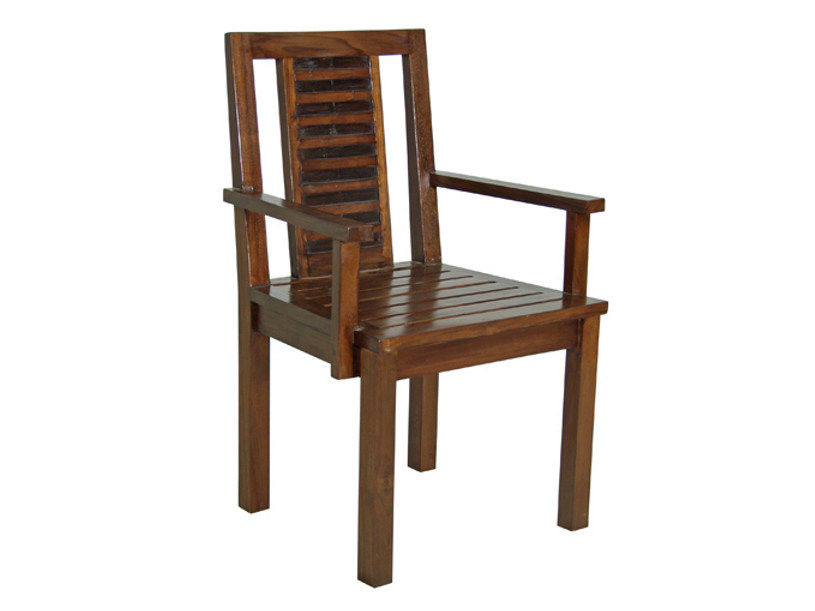 Wooden chair with armrests MIRAI | Chair with armrests - WARISAN