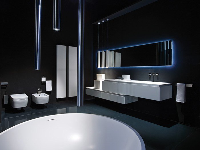 Lacquered single wall-mounted vanity unit K.FLY | Lacquered vanity unit - RIFRA