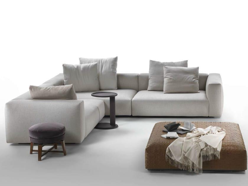 Corner fabric sofa with removable cover LARIO | Corner sofa - FLEXFORM