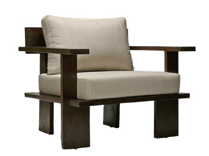 Upholstered armchair with armrests NEO PRIMITIVE | Armchair with armrests - WARISAN