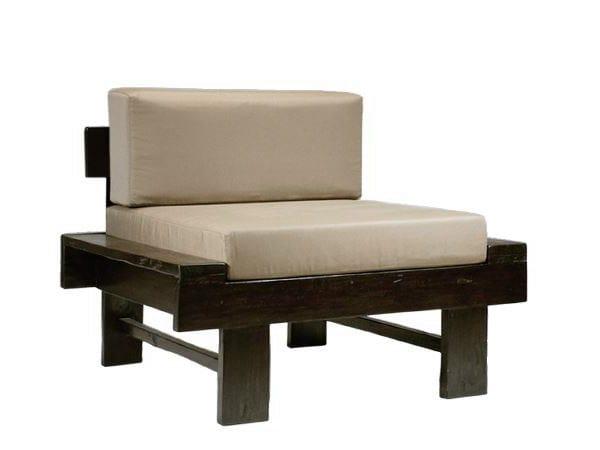 Upholstered fabric armchair NEO PRIMITIVE | Armchair - WARISAN