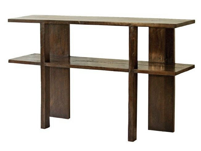 Rectangular teak console table NEO PRIMITIVE | Teak console table - WARISAN