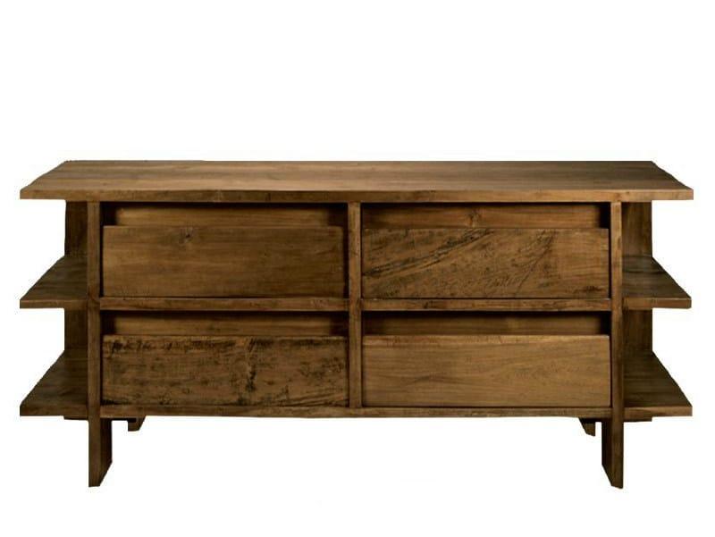 Teak sideboard with drawers NEO PRIMITIVE | Sideboard by WARISAN
