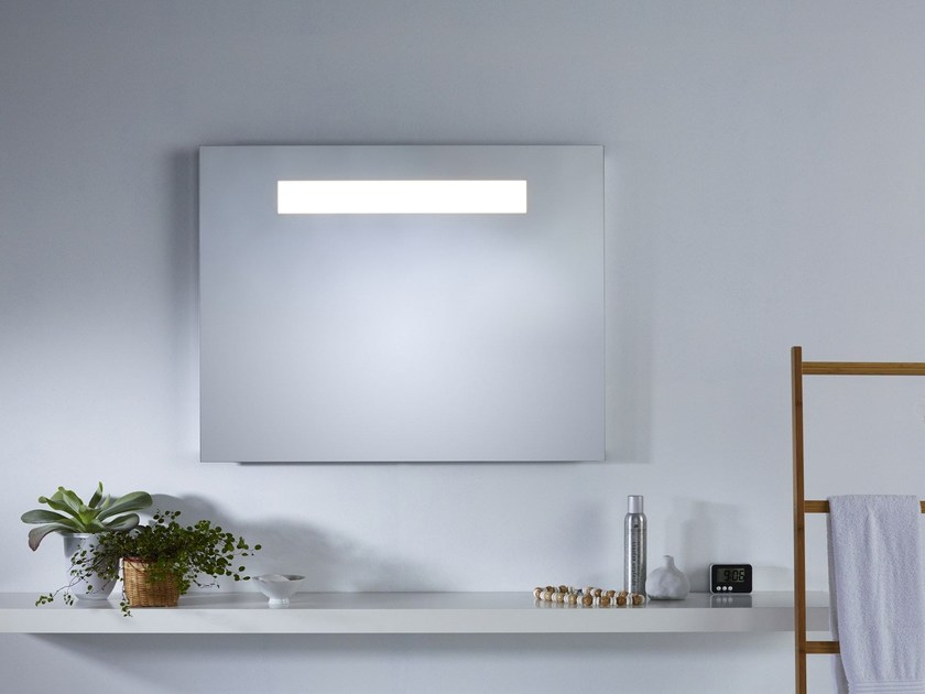 Wall-mounted mirror with integrated lighting B.PURE - DEKNUDT MIRRORS