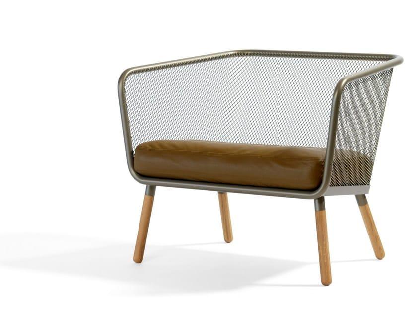 Leather small sofa HONKEN   Small sofa - Blå Station