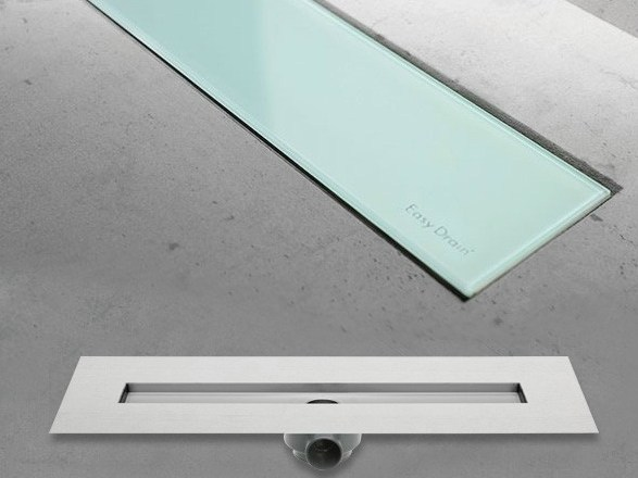 Shower channel MODULO BASIC GREEN GLASS - Easy Sanitary Solutions