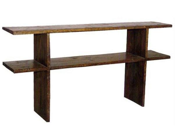 Rectangular teak console table NEO PRIMITIVE | Console table - WARISAN