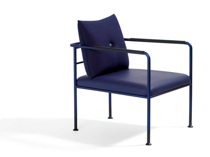 Upholstered armchair with armrests MORRIS JR | Armchair - Blå Station