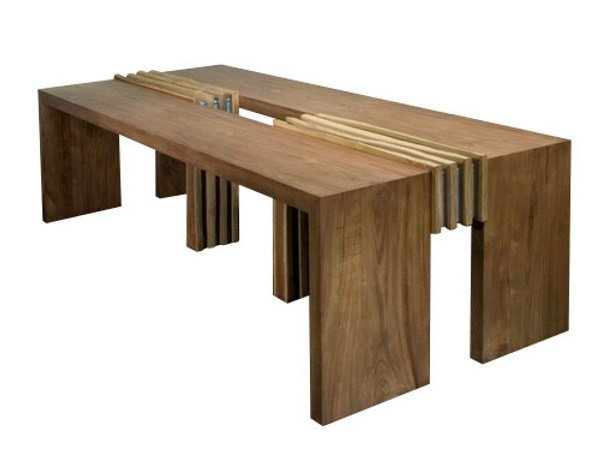 Rectangular wooden dining table IJO | Table - WARISAN