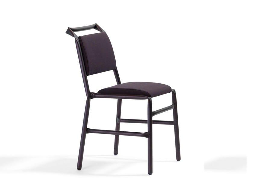 Upholstered fabric restaurant chair SUPERSTRAW - Blå Station