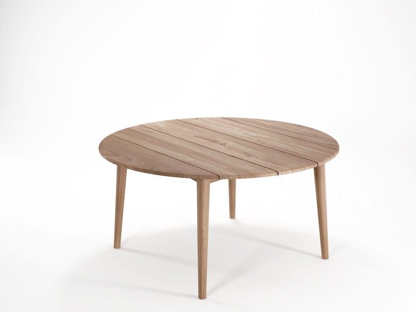 Round teak dining table GRASSHOPPER | Round table - KARPENTER