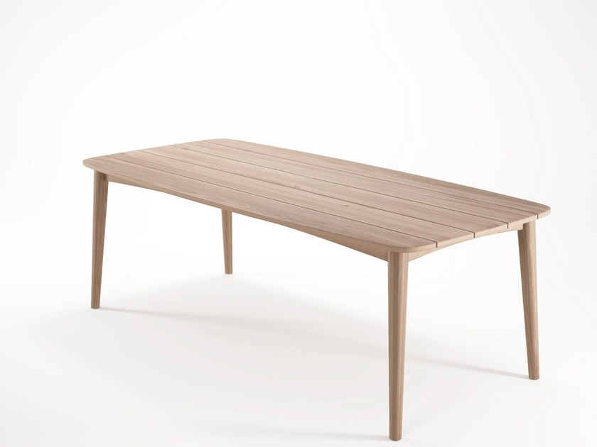 Rectangular teak dining table GRASSHOPPER | Rectangular table - KARPENTER