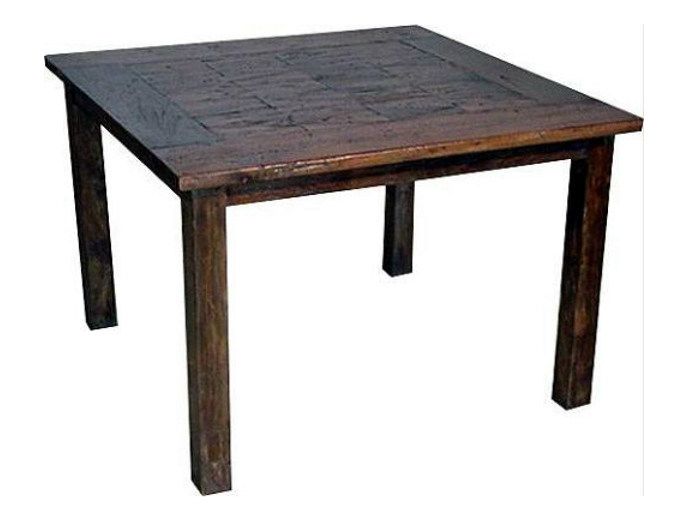 Square wooden living room table INLAID | Square table - WARISAN