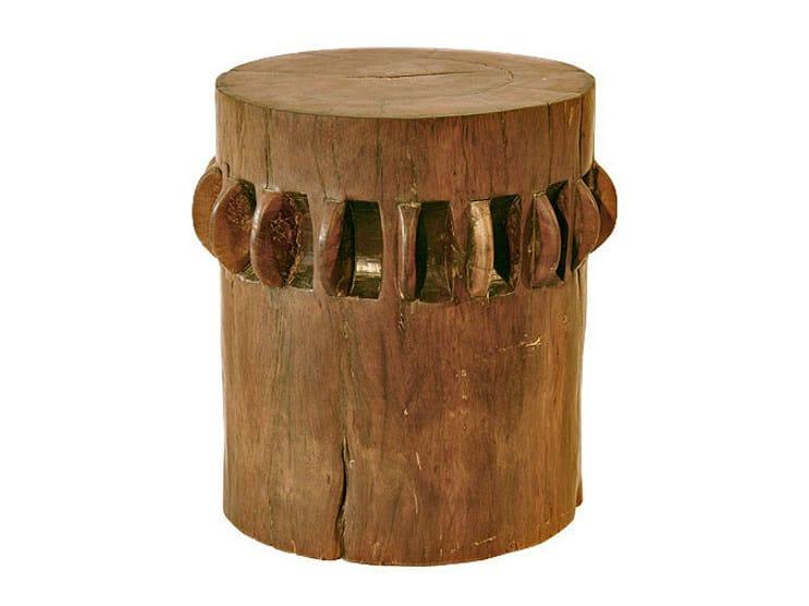 Wooden garden stool ORIGINS | Stool - WARISAN
