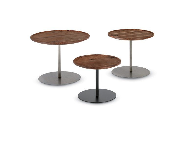 Round wooden coffee table PLAZA - Riva 1920