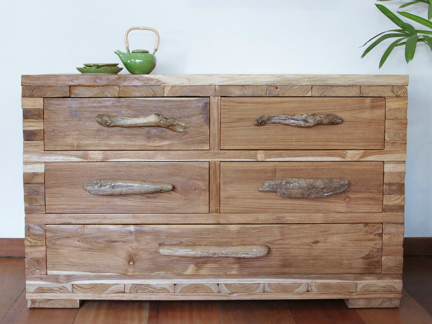 Wooden sideboard with drawers ORIGINS | Sideboard - WARISAN
